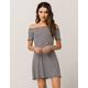 SOCIALITE Marrow Ribbed Stripe Dress