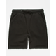 SEPTEMBER Black Fleece Mens Sweat Shorts