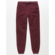 CHARLES AND A HALF Cabernet Boys Twill Jogger Pants