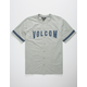 VOLCOM Caltrop Heather Grey Mens Baseball Jersey