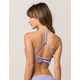HURLEY Quick Dry Surf Lavender Bikini Top