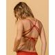FULL TILT Bralette Burnt Red Bikini Top