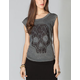 FULL TILT Lace Skull Womens Muscle Tee