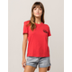 VOLCOM Volcom Day Everyday Red Womens Tee