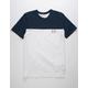 UNDER ARMOUR Color Block Blue & White Mens T-Shirt