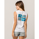 RUSTY Just Surfing Womens Muscle Tank Top