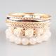 FULL TILT 7 Piece Epoxy Rose Bracelets