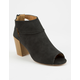 QUPID Peep Toe Cutout Womens Booties