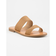 SODA Double Strap Tan Womens Sandals