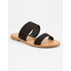 SODA Double Strap Black Womens Sandals