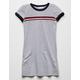 FULL TILT Chest Stripe Heather Grey Girls T-Shirt Dress