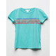 WHITE FAWN Chest Stripe Girls Tee
