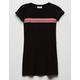 FULL TILT Chest Stripe Black Girls T-Shirt Dress