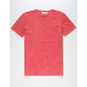 HEDGE Red Mens Pocket Tee