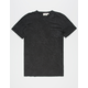 HEDGE Black Mens Pocket Tee