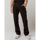 DICKIES Flex Regular Fit Straight Leg Tough Max Stonewashed Black Mens Duck Carpenter Pants