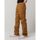 DICKIES Flex Regular Fit Straight Leg Tough Max Stonewashed Brown Duck Mens Duck Carpenter Pants