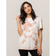 VANS Cloud Wash Pink Womens Tee