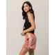 ADIDAS 3 Stripe Womens Pink Shorts