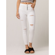 IVY & MAIN Fray Ankle Womens Ripped Jeans