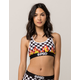 PSD Checker Flames Sports Bra