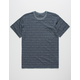 RVCA Double Dip Blue Mens Pocket Tee