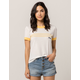 ROXY Down By The River Womens Ringer Tee