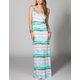 FULL TILT Tie Dye Twist Back Maxi Dress