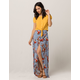 SKY AND SPARROW Floral Wrap Maxi Skirt