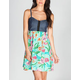 FIRE Chambray Tropic Corset Dress