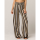 SKY AND SPARROW Striped Womens Wide Leg Pants