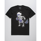 RIOT SOCIETY Panda Skeleton Space Bubbles Mens T-Shirt