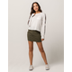 FULL TILT Twill Olive Mini Skirt