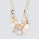 FULL TILT Rhinestone Heart Charm Statement Necklace