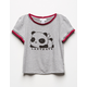 WHITE FAWN Lazy Days Girls Ringer Tee