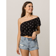 AMUSE SOCIETY Sun Bandit Womens One Shoulder Top