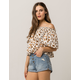 AMUSE SOCIETY In Your Dreams Womens Off The Shoulder Top