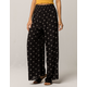 AMUSE SOCIETY Coasting Along Black Womens Wide Leg Pants