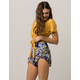 SKY AND SPARROW Floral Layered Ruffle Womens Shorts