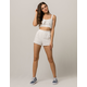 EN CRÈME Eyelet Womens Crop Top And Shorts Set