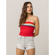 FULL TILT Horizontal Stripe Red Womens Tube Top