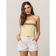 FULL TILT Horizontal Stripe Yellow Womens Tube Top