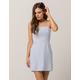 IVY & MAIN Stripe Light Blue Tank Dress