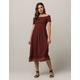 ROXY Pretty Lovers Rust Womens Midi Dress
