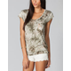 FULL TILT Camo Tie Dye Stud Pocket Womens Tee