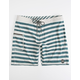 RUSTY Jailstripe Blue & White Mens Boardshorts