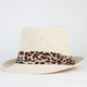 Cheetah Band Womens Fedora
