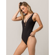O'NEILL Salt Water Black One Piece Swimsuit