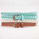 2 Piece Skinny Faux Leather Belts