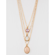 FULL TILT Gemstone Layered Gold Necklace